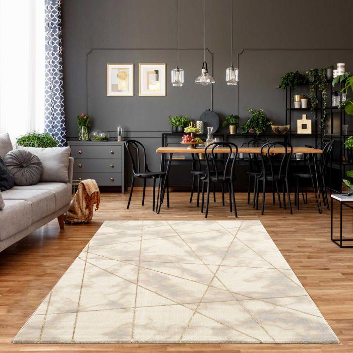 Designer Teppich Marmor Gold Beige LB800J