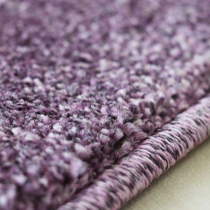 Hochwertiger Kurzflor Wohnzimmerteppich Violett Lila gepunktet M181LV