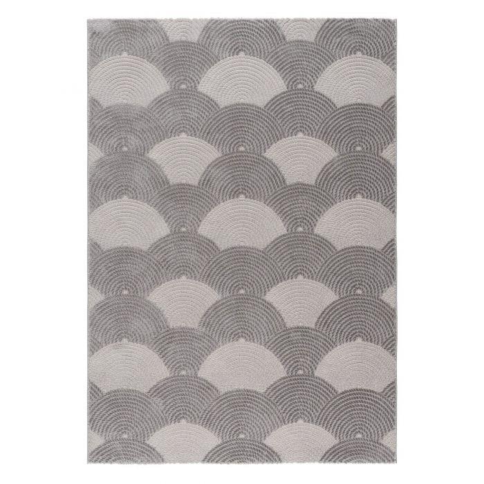 Kurzflor Teppiche Designer Teppich 3D Dropdream in Grau | MY6000S