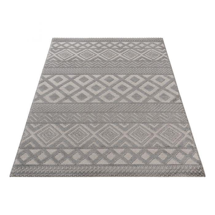 Designer Teppich 3D Skandi Pattern in Grau M6100S
