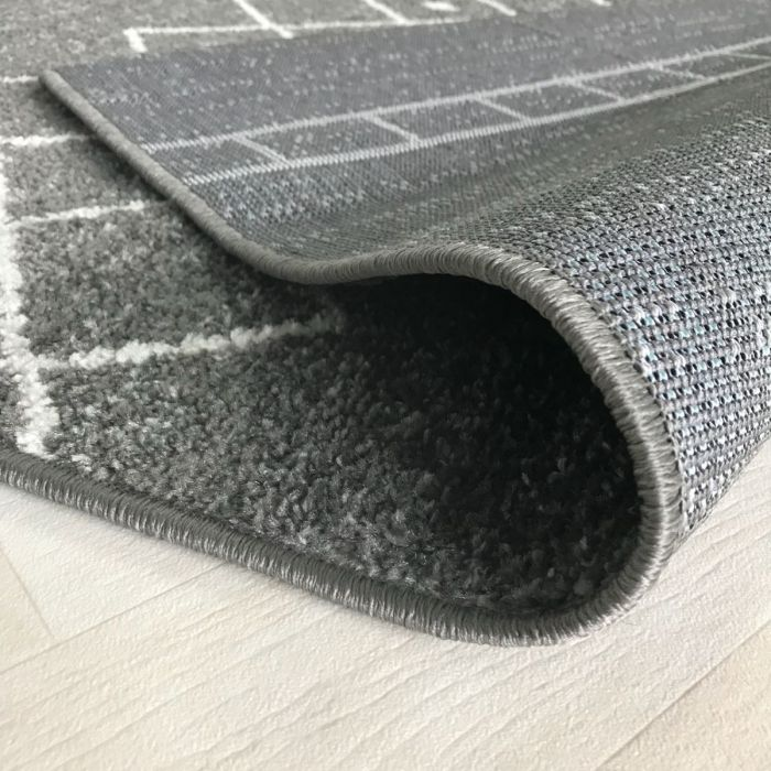 Teppich Kurzflor Grau Trend Skandi Design M1770