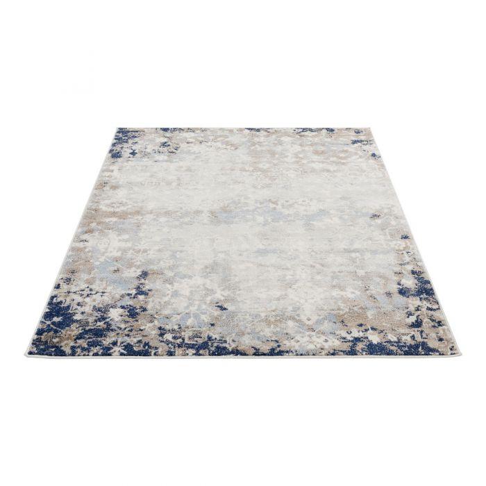 Valetntinstag Vintage Teppich Kurzflor Blau | Used Look Skandi Style | MY3720