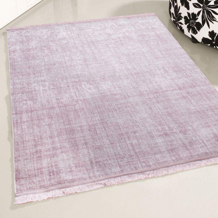 Waschbarer Teppich Antibakteriell Rosa Moderne Linien Melierung M2832