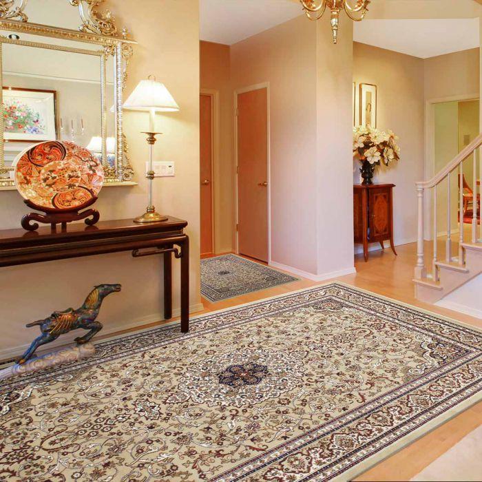 Orientteppich Medaillon Beige Orientalischer Klassik Design M802