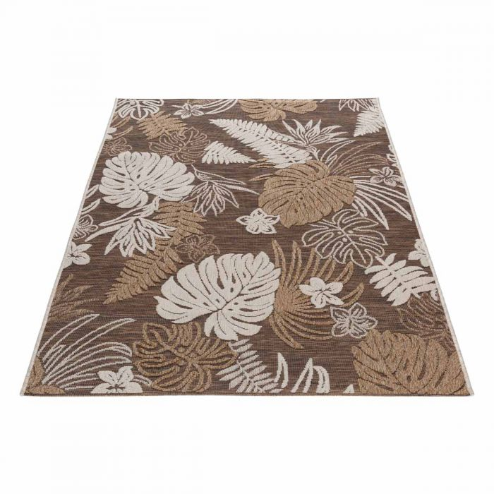 Outdoorteppich Flower in Braun mit 3D Struktur M3470