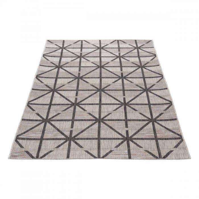 Outdoorteppich Puzzle Geo Style Grau M3650