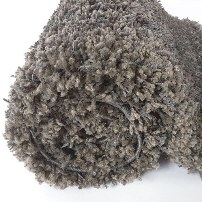 Outlettverkauf 50mm Shaggy Teppich Berber Look Dunkelgrau M087G