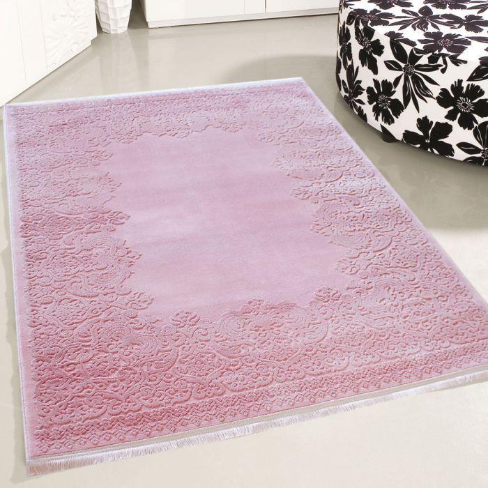 80x150 cm Designer Teppich Rosa 3D Vintage Barock MYP4286