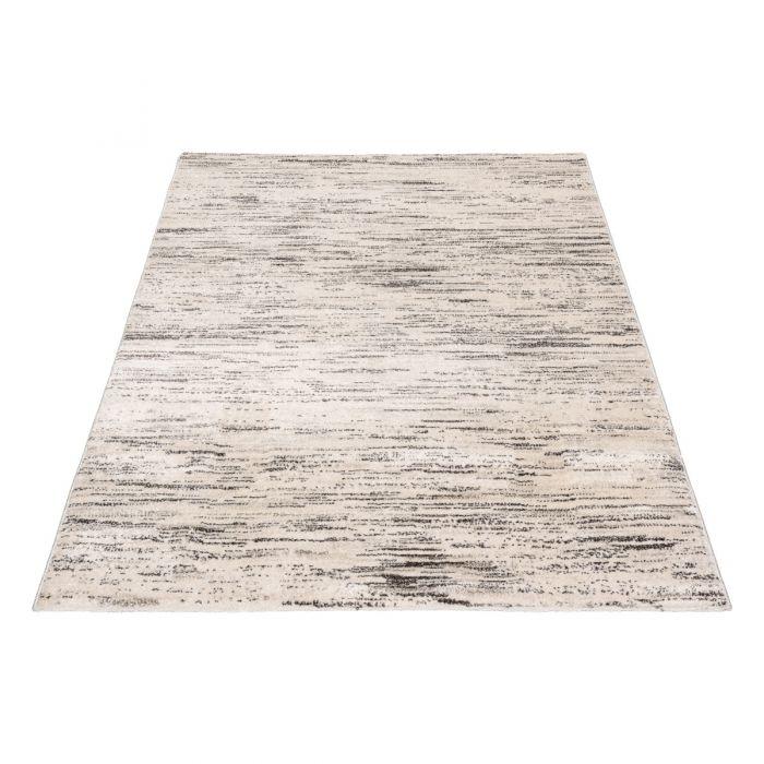 Wohnzimmer Teppich Modern Beige Gepunktete Muster Konturen M7406