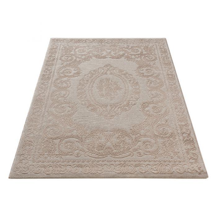 Vintage Teppich mit Medaillon in Braun Beige | MY6650J Amatis-6650-beige Vintage Patchwork Muster
