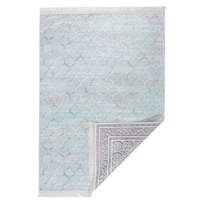 Waschbarer Teppich BEIDSEITIG verwendbar Rosa Modern Klassik M213R