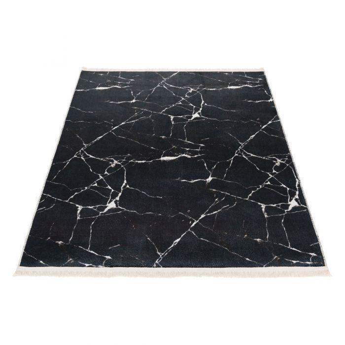 Waschbarer Teppich Bamboo Schwarz M2157