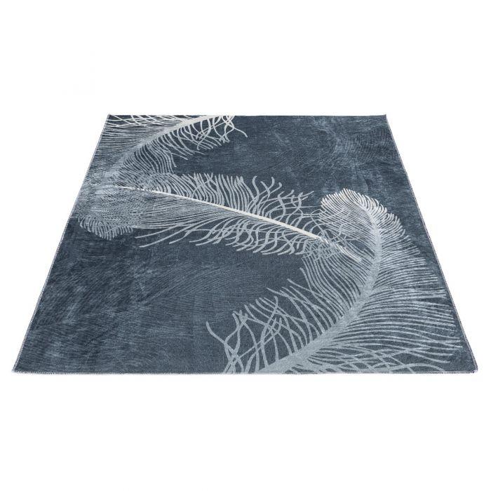Waschbarer Teppich Antibakteriell Modernes Florales Design 2986