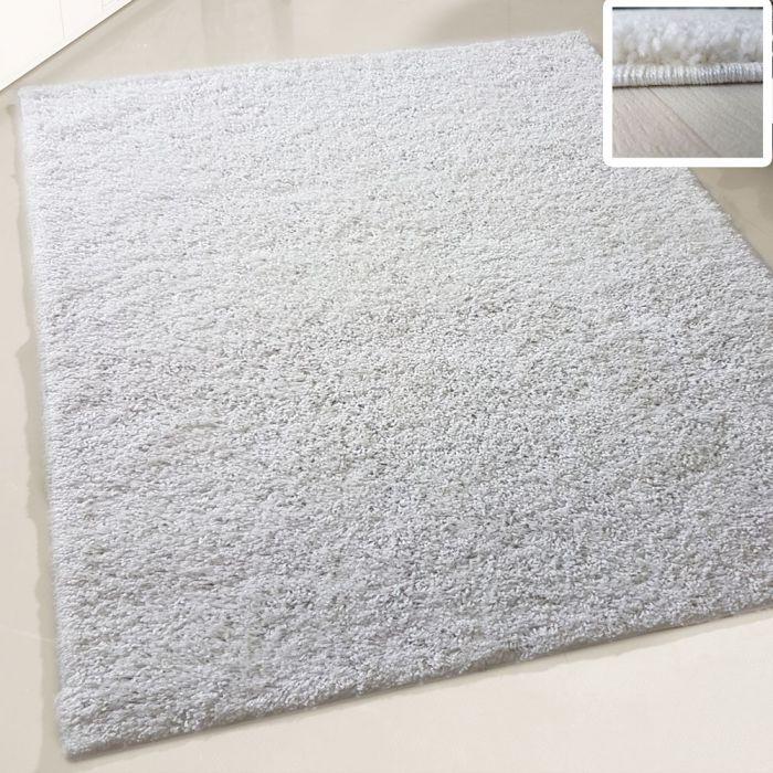 140x200 cm Shaggy Hochflor Teppich Creme Einfarbig Uni MY380 30 mm