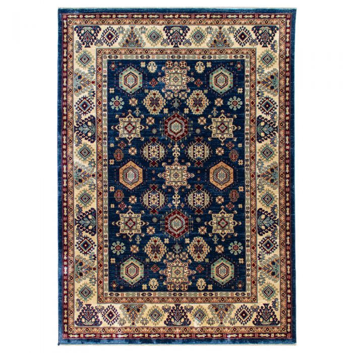 Hochwertiger Orientteppich Seidenimitat | Kurzflor Blau MY1349 | 80x150 cm 47308 Teppiche in 80x150 cm