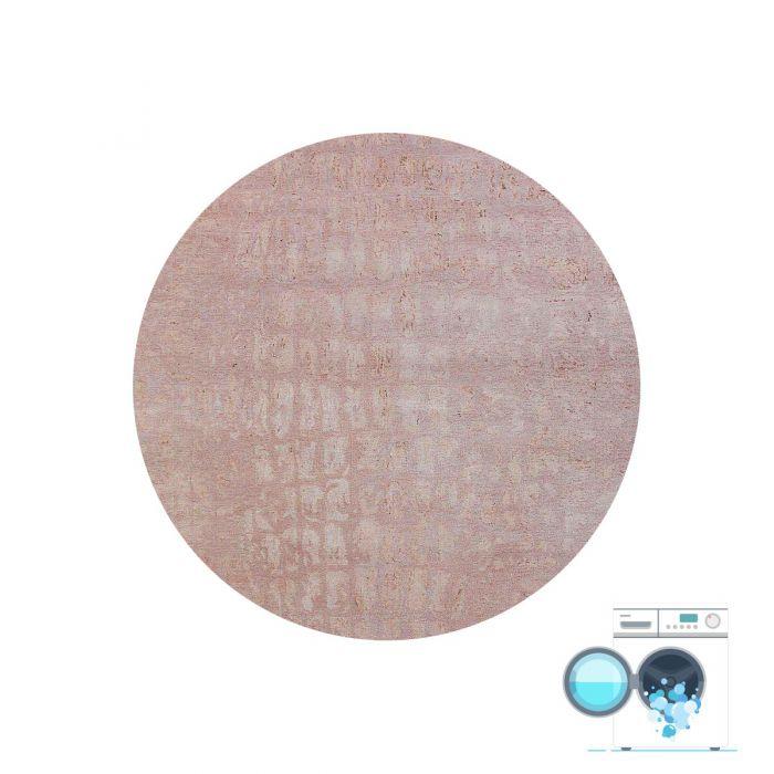 120x120 cm Teppich Waschbar Beige Granit Muster Design MY1400J