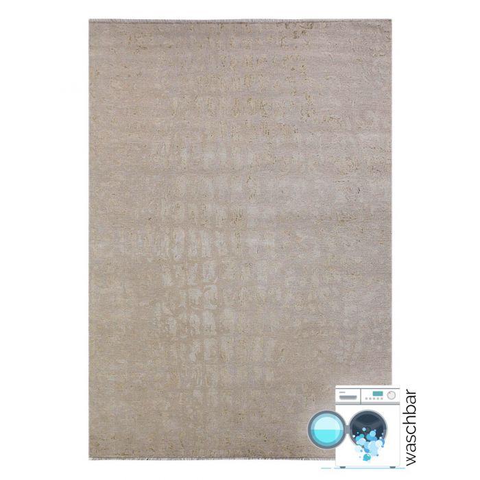 Teppich Waschbar Antibakteriell Beige Granit Muster Design M1400J