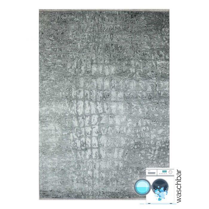 Teppich Waschbar Antibakteriell Grau Granit Muster Modern M1400S
