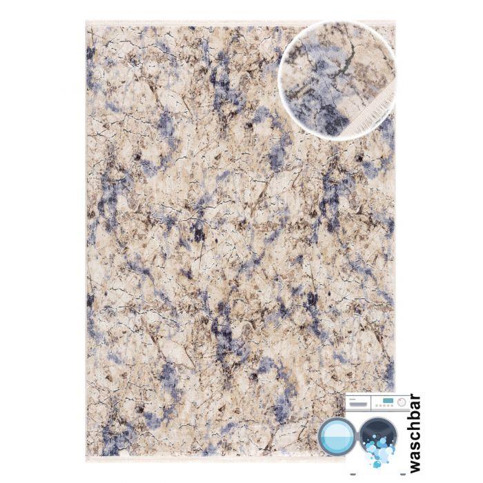 160x230 cm Waschbarer Teppich Noble Magic Blau MY2122