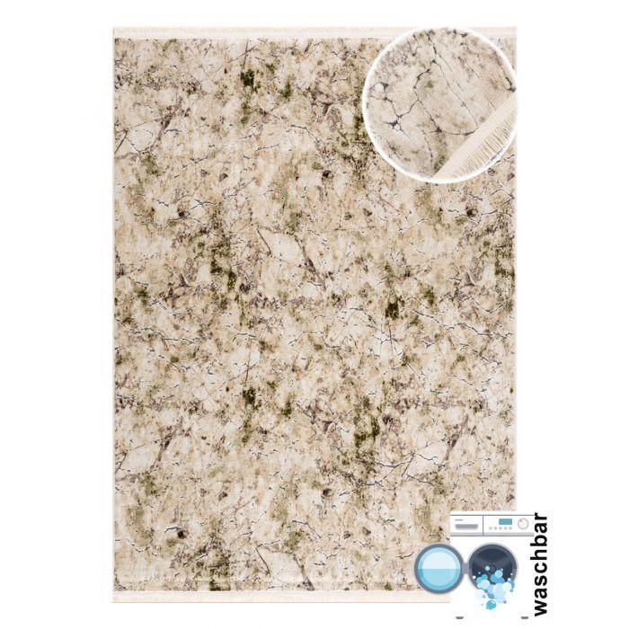 160x230 cm Waschbarer Teppich Noble Magic Grün MY2121