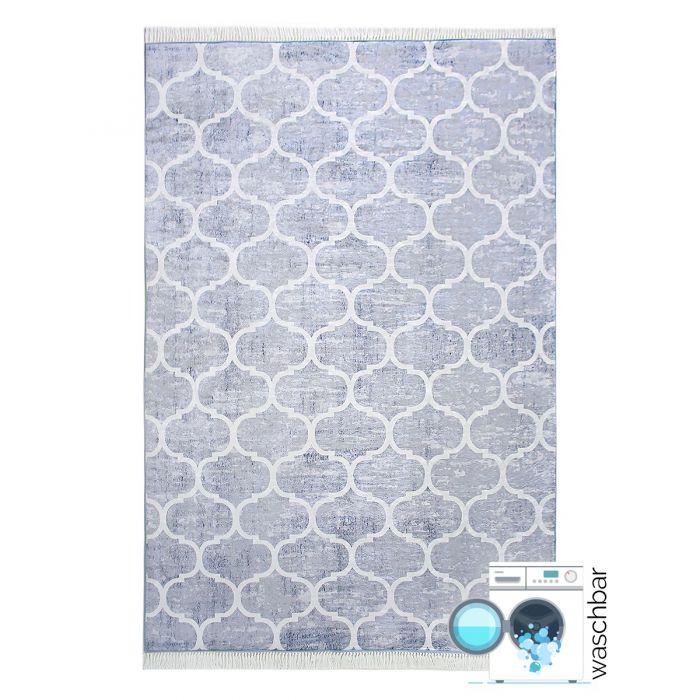 Waschbarer Teppich Grau Weiss Meliert | Marrokanisches Design | MY2720 Caimaz-2720 Outdoor