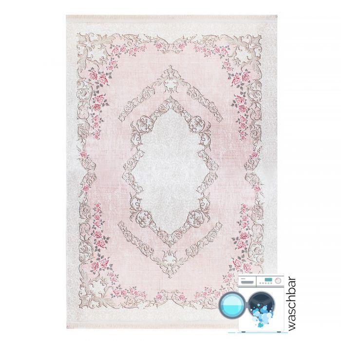 Waschbarer Teppich Rosa | Vintage Blumenmuster | MY2920 CAIMAS-2920-Rose Aktuelle Trends Waschbare Teppiche