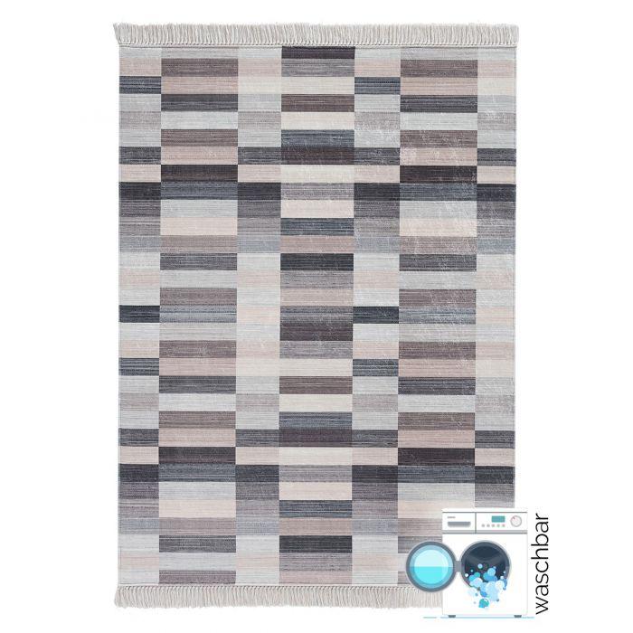Geometrische Muster Antibakteriell Waschbarer Teppich Geo| Pastel Balken| MY2951