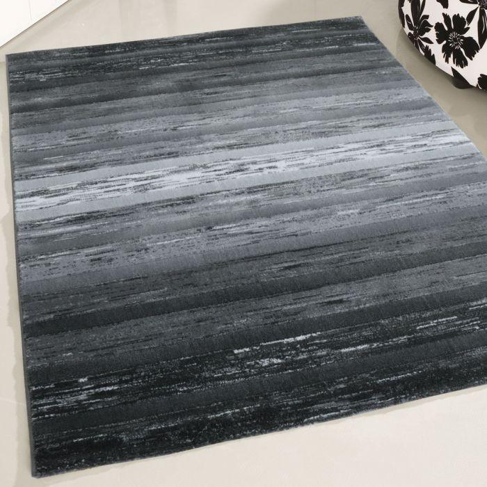 120x170 cm Kurzflor Teppich Modern Grau Schwarz cm Designer Farbverlauf cm MY303S
