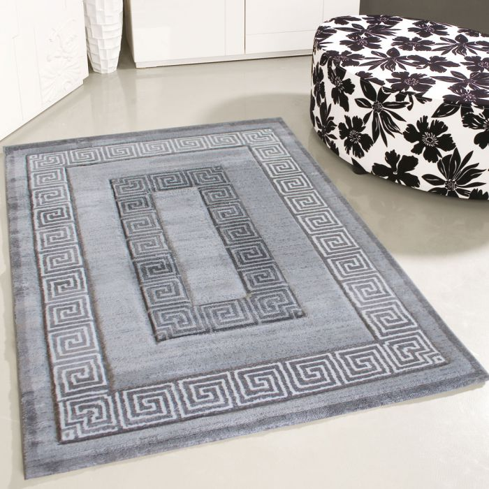 Teppich Kurzflor Grau | Konturenschnitt Design | MY306S | 80x150 cm