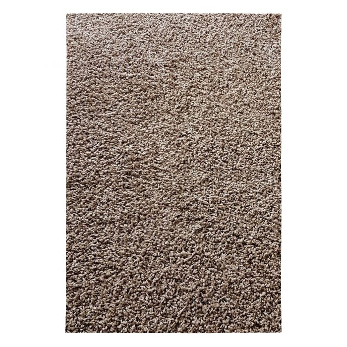 70x140 cm Shaggy Hochflor Teppich Braun Einfarbig Uni MY380 30 mm