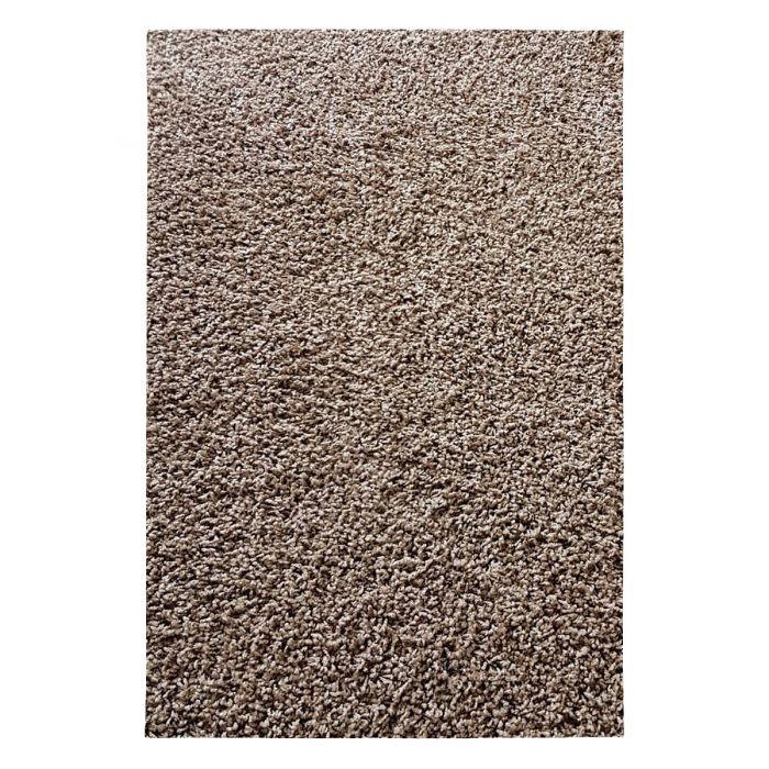 60x100 cm Shaggy Hochflor Teppich Braun Einfarbig Uni MY380 30 mm