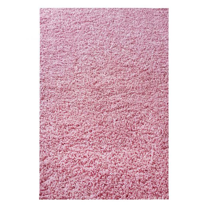 160x220 cm Shaggy Hochflor Teppich Rosa Einfarbig Uni MY380 30 mm