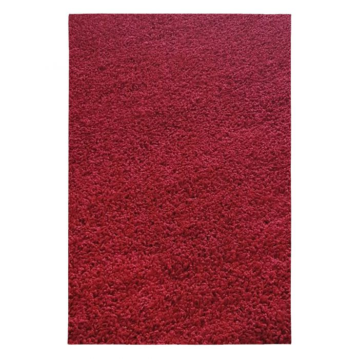 30 mm Shaggy Hochflor Teppich Rot Einfarbig Uni M380