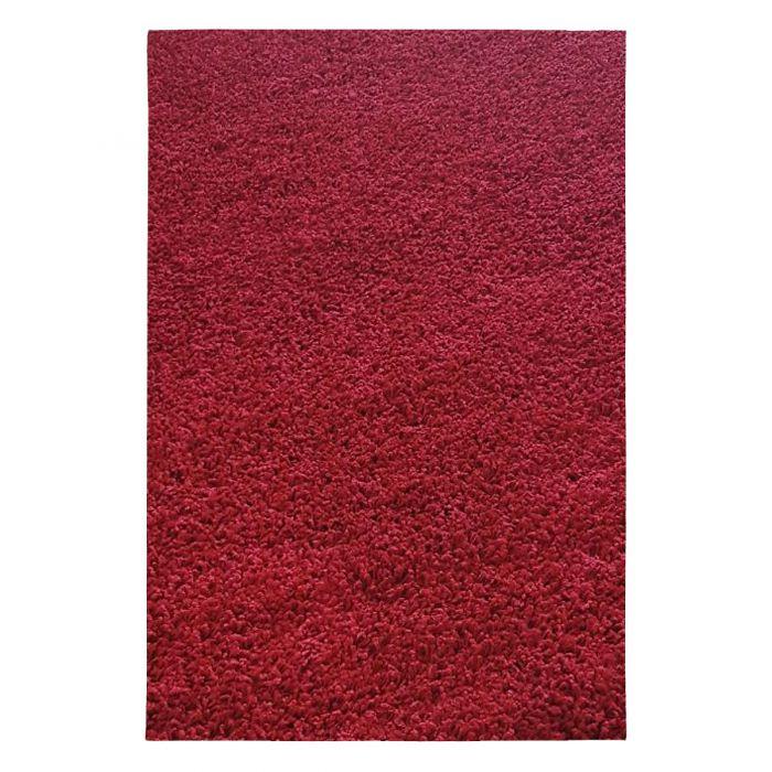 70x140 cm Shaggy Hochflor Teppich Rot Einfarbig Uni MY380 30 mm
