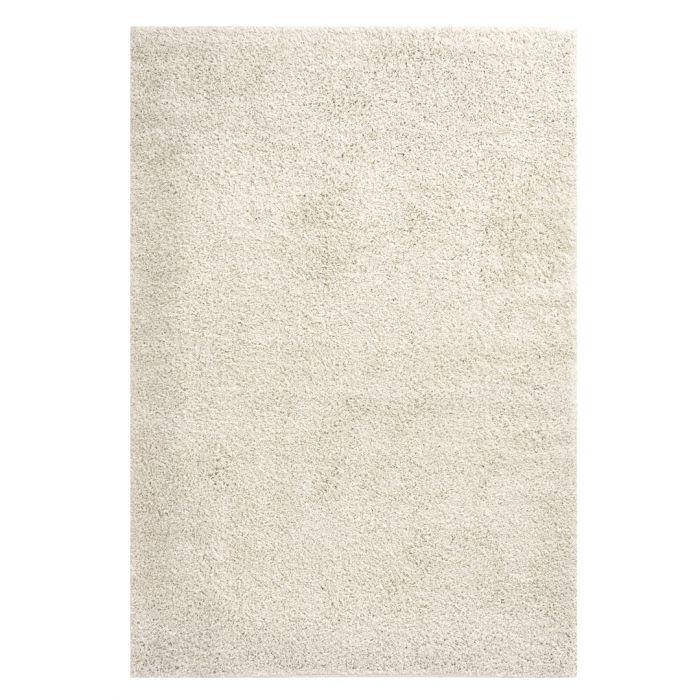 160x220 cm Shaggy Hochflor Teppich Creme Meliert Uni MY383 30 mm 48181 Teppiche in 160x230 cm