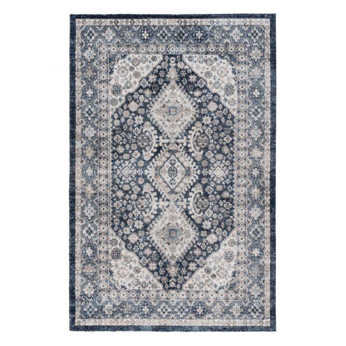 Vintage Teppich Antares Orientalisch Grau Blau A4020