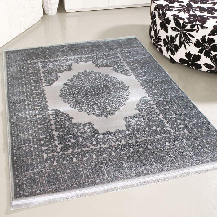 120x170 cm Designer Teppich Grau 3D Struktur Muster MYP4212S