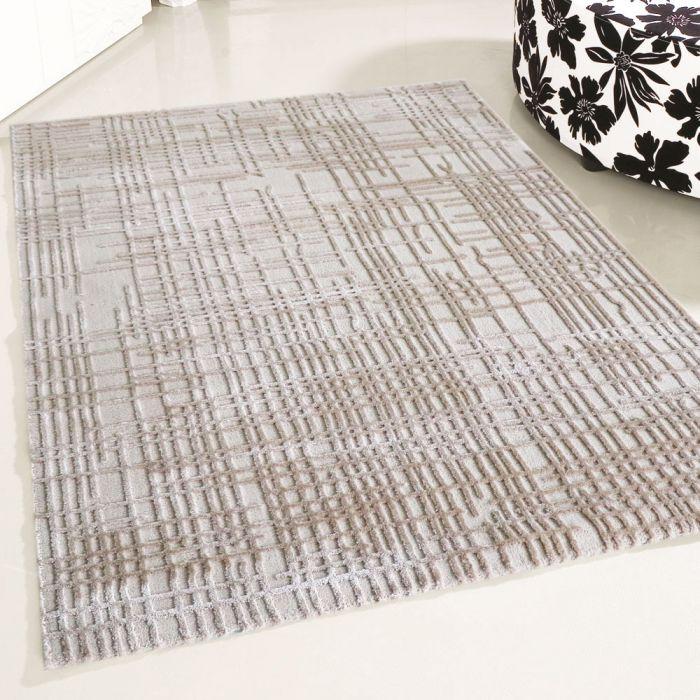 80x150 cm Designer Teppich Beige 3D Gemustertes Design MY4215