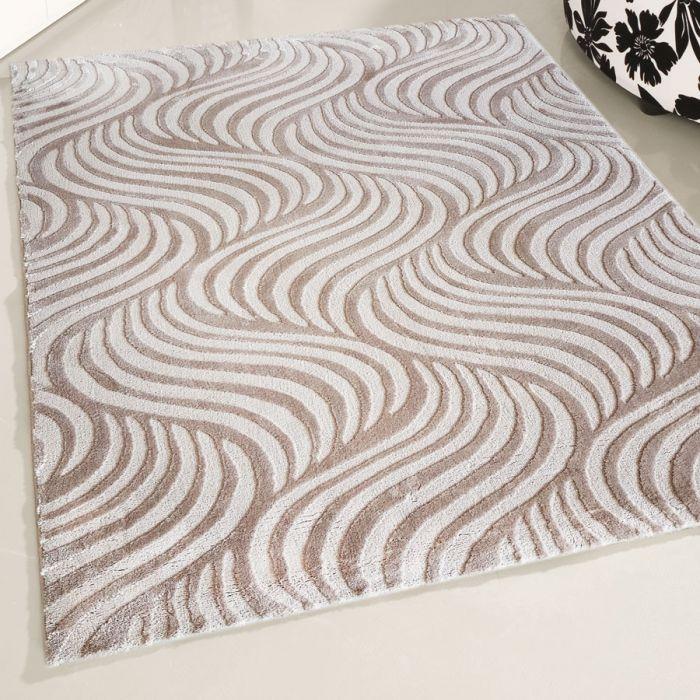 80x300 cm Designer Teppich Beige Retro Designer Style MY4239