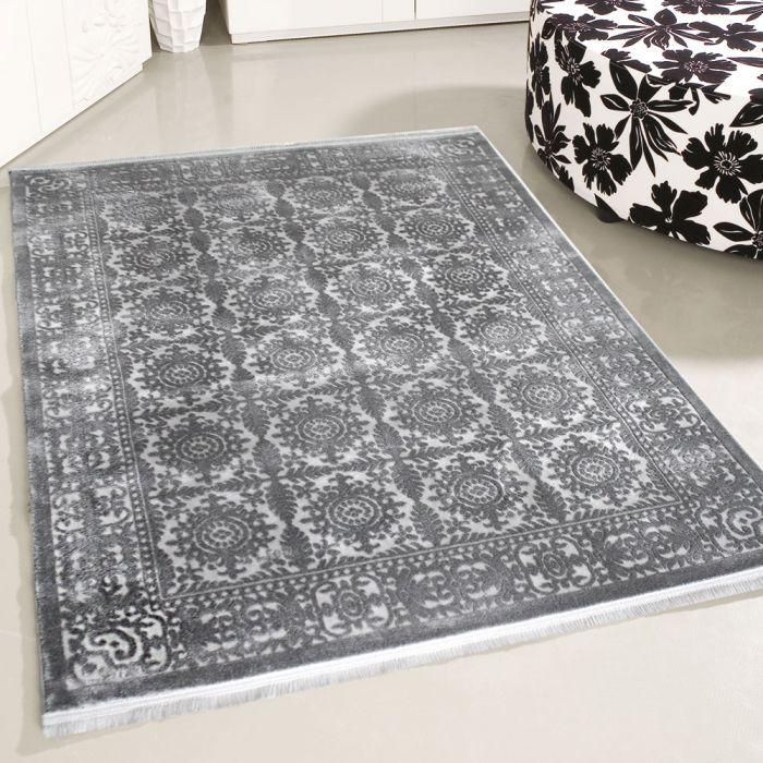 80x150 cm Designer Teppich Grau 3D Vintage Durchgemustert MYP4283S