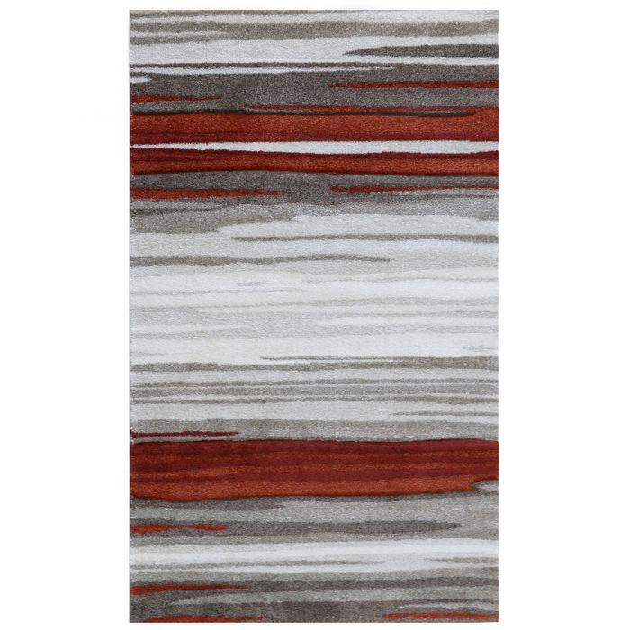 Wohnzimmer Teppich Modern Terra Grau Naturfarbe Design M7422