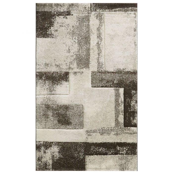 Wohnzimmer Teppich Beige Design Marmor Meliert M7432