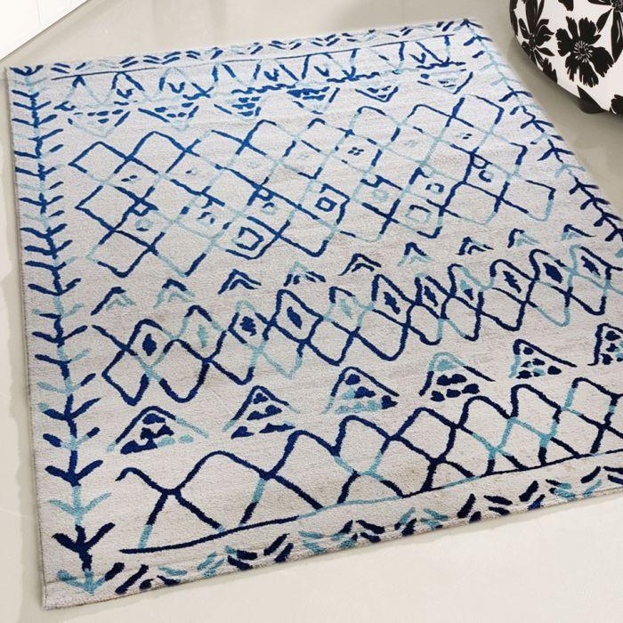 Teppich Kurzflor Weiss Cream   Vintage Boho Style   MY7796R Rustik-7796-Cream Schlafzimmer