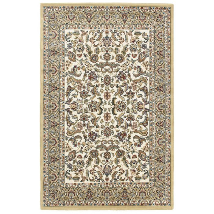 Orientteppich Creme Orientalisch Durchmusterte Bordüre M804