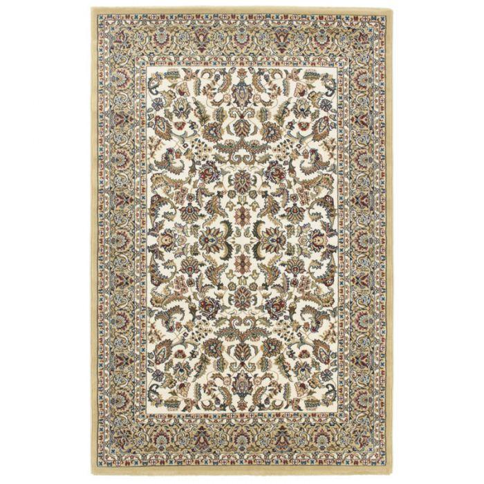 120x170 cm Orientteppich Creme Orientalisch Durchgemusterte Bordüre MY804