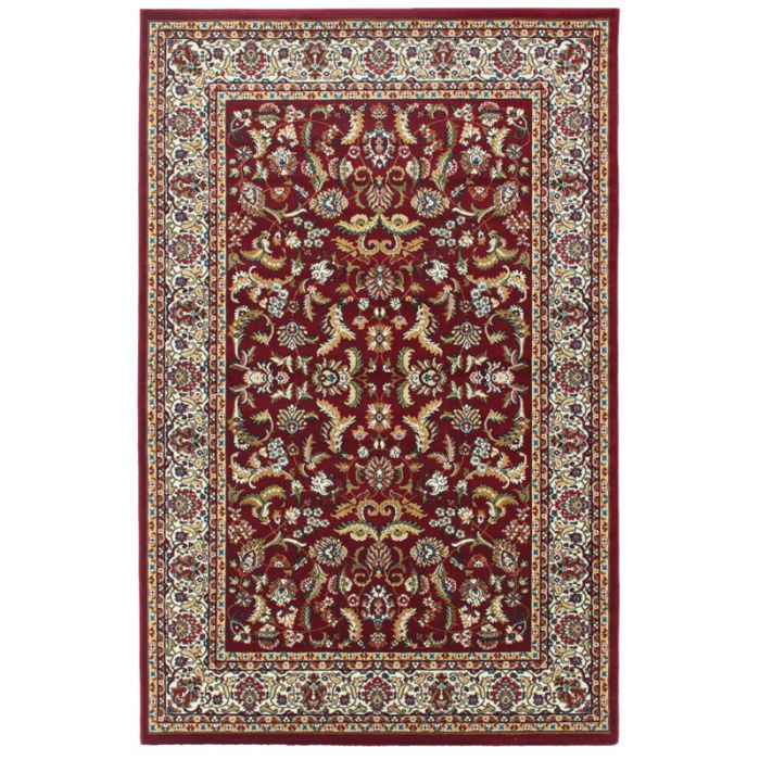 60x110 cm Orientteppich Rot Orientalisch Durchgemusterte Bordüre MY804