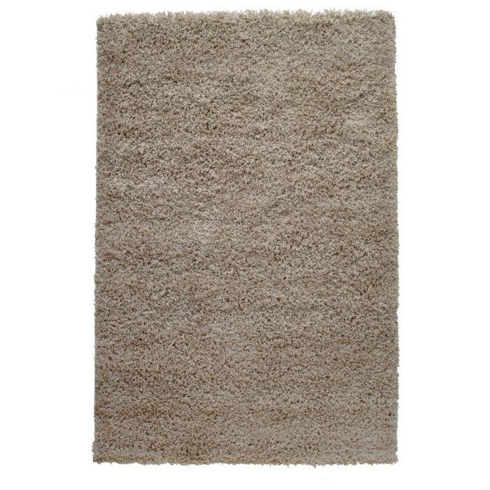 60x110 cm Shaggy Hochflor Teppich Beige Einfarbig Uni MY170 40 mm 5157 Teppiche in 60x110 cm