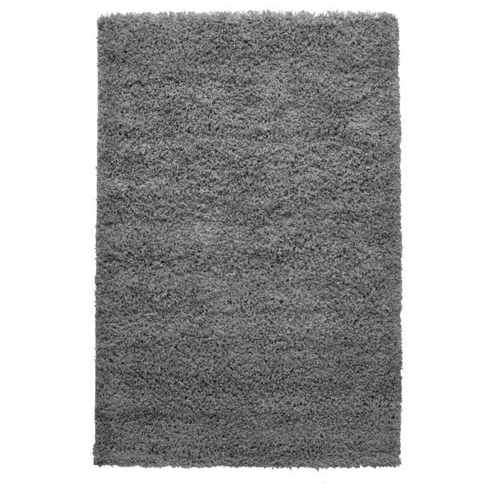40 mm Shaggy Hochflor Teppich Grau Einfarbig Uni M170