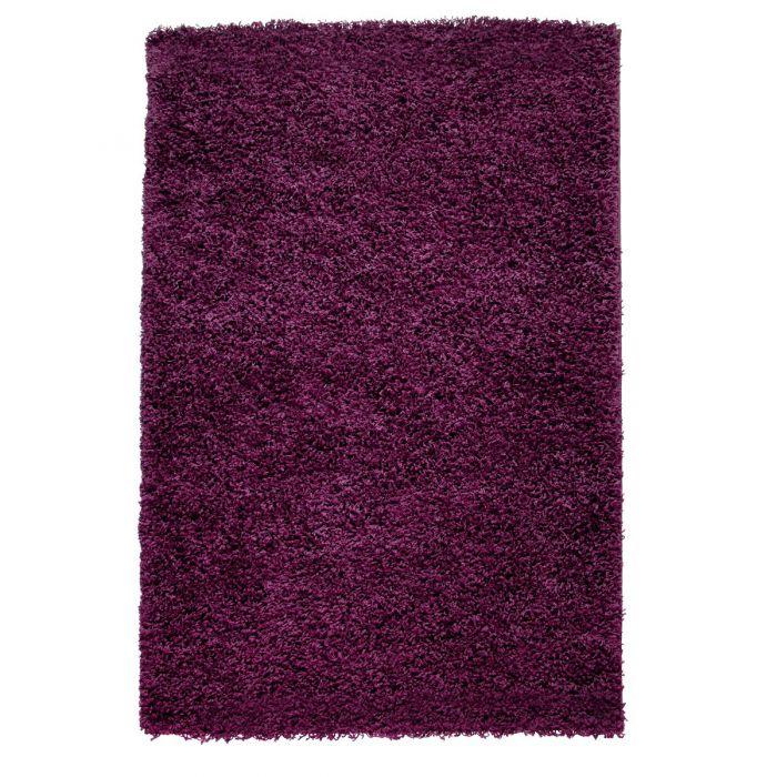 40 mm | Shaggy Hochflor Teppich Violett | Einfarbig Uni MY170 Basic-170-Violett Kinderteppiche