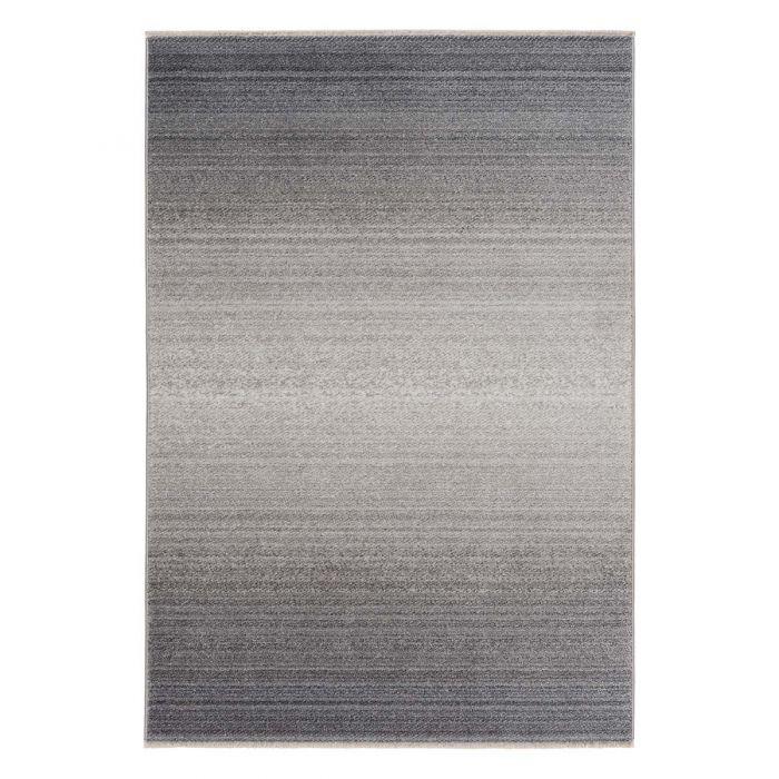 Designer Kurzflor Teppich Gradient Grau MI2080